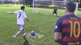 Cristiano Ronaldo vs. Messi – Penalty Shootout | In Real Life!