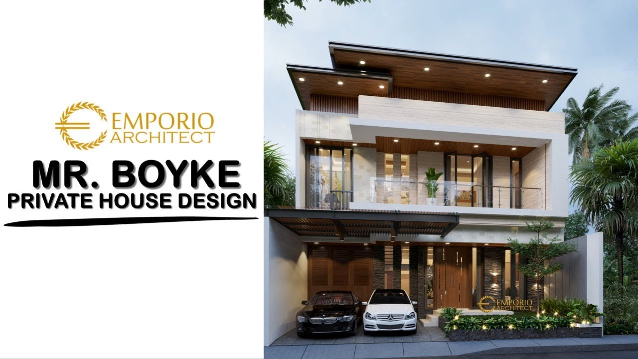 Video 3D Mr. Boyke Modern House 2 Floors Design - Jakarta Timur
