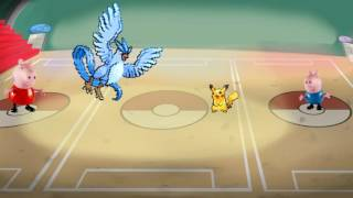Articuno  - (Pokémon) - Peppa Pig VS George Pig batalha PIKACHU vs ARTICUNO pokemon TOTOYKIDS potuguues