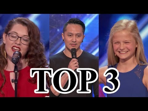 TOP 3 BEST Auditions America's Got Talent 2017 (видео)