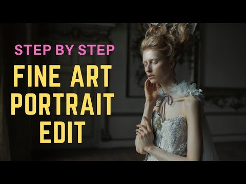 fine art portrait retouching step by step tutorial by ferhan khan photography