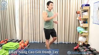 Chạy Nâng Cao Gối Đánh Tay   Nam   Junie HLV Ryan Long Fitness