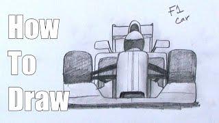 How To Draw an F1 car - Formula One Race Car
