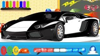 Lắp ráp Xe Cảnh Sát bắt cướp - Police Car | TopKidsGames