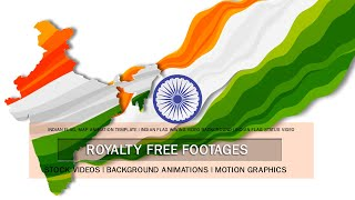 Indian Flag and Map animation template | Indian flag status video | Independence Day 15 August 2021