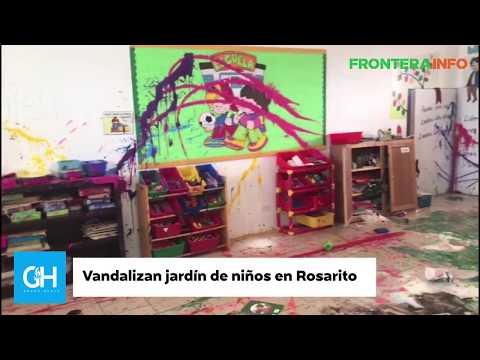 Vandalizan jardín de ninos en Rosarito