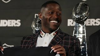 """Antonio Brown's Intro Presser with the Raiders, """"I want to catch Jerry Rice"""""""