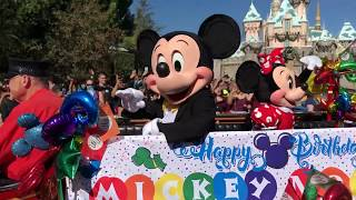 Mickey Mouse SURPRISE 89th Birthday Celebration Cavalcade At The Disneyland Resort