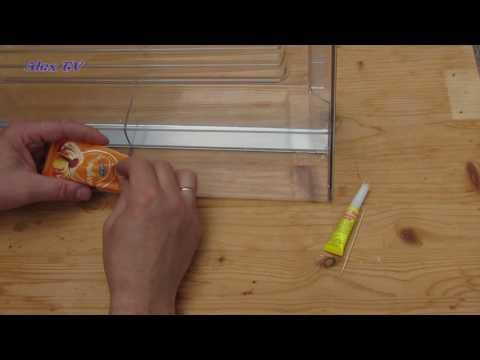 Kühlschrank -  Gemüseschublade selber reparieren .