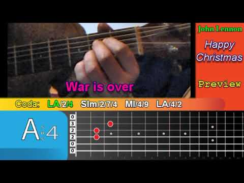 How To Play Happy Xmas War Is Over Now With Tab