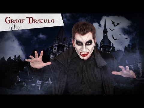 Griezelige vampier Dracula schmink tutorial voor volwassenen Halloween