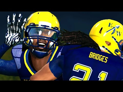 NCAA 14 Road to Glory Gameplay - High Expectations in High School - Flashback Bridges Ep. 1
