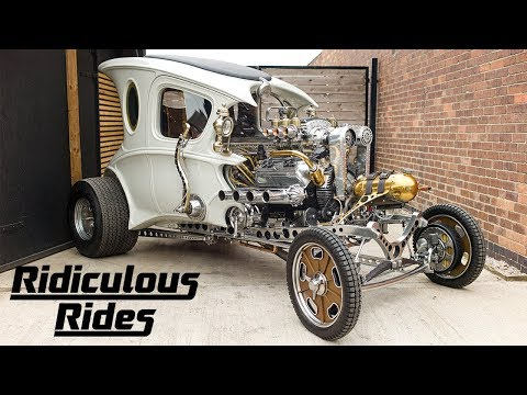 Inventor Builds Steampunk Hot Rod From Scratch | RIDICULOUS RIDES