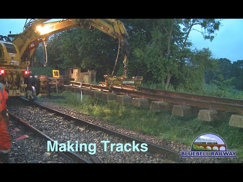 Overnight track relaying on the Bluebell Railway June 2017