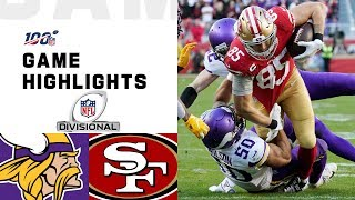 The Minnesota Vikings take on the San Francisco 49ers during the Divisional Round of the 2019 NFL postseason.  Subscribe to NFL: http://j.mp/1L0bVBu  Check out our other channels: NFL Vault http://www.youtube.com/nflvault NFL Network http://www.youtube.com/nflnetwork NFL Films http://www.youtube.com/nflfilms NFL Rush http://www.youtube.com/nflrush NFL Play Football https://www.youtube.com/playfootball NFL Podcasts https://www.youtube.com/nflpodcasts  #NFL #Vikings #49ers