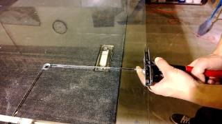 How to break out a notch on 10mm glass cleanly