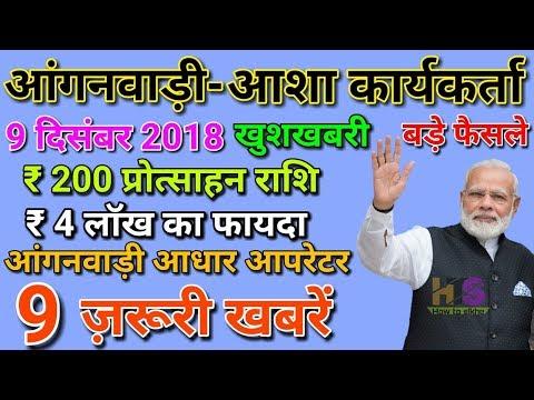 Anganwadi Asha Worker Today 9 December 2018 Latest Salary News Hindi   आंगनवाड़ी आशा सहयोगिनी मानदेय