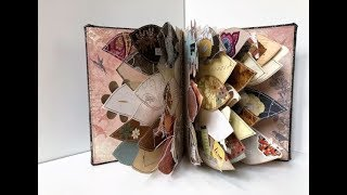 Flag Book - One Of A Kind Handmade Book - (USE UP YOUR SCRAPS!)