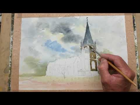 Thumbnail of St. Michael's, Galleywood Common. (watercolour demonstrations).