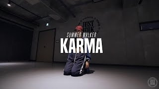 Jiyoung Choreo Class | Summer Walker   Karma | Justjerk Dance Academy