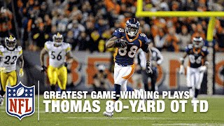 Tebow to Demaryius Thomas for 80-Yard OT TD | Steelers vs. Broncos | 2011 AFC Wild Card Highlights