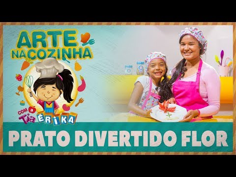 PRATO DIVERTIDO FLOR | Arte na Cozinha com a Tia Érika