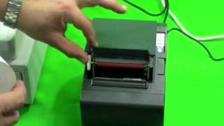 How to change the paper roll on the TM200 kitchen printer
