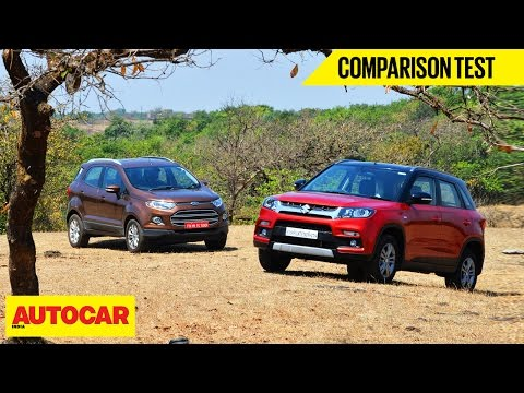 Maruti Vitara Brezza VS Ford EcoSport | Comparison Test | Autocar India