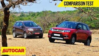 Maruti Vitara Brezza VS Ford EcoSport | Comparison Test | Autocar India