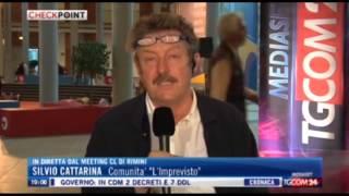 Tgcom24 intervista Silvio Cattarina durante il Meeting di Rimini 2014