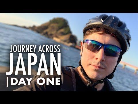 2000 km na kole Japonskem – Den první