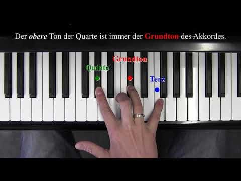 Klavier 3/5 - QUARTENTRICK für Dreiklänge/Umkehrungen