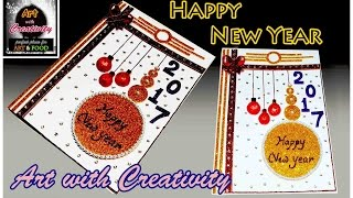 how to make happy new year card super easy for children art