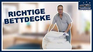 Was ist die richtige BETTDECKE - FRAG DEN JÄGER - TraumKonzept Folge 8