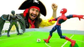 Игры ФУТБОЛ ⚽ #ЧеловекПаук против Стервятника! Видео игрушки #супергерои Марвел Игры #СпайдерМен