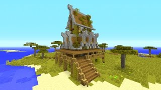Building With Style Rustic House Minecraft Tutorial Minecraftvideos Tv