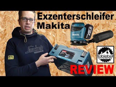 Review Makita 18V Akku Exzenterschleifer DBO180Y1J mit MakPac und 1,5 Ah Akku Test Erfahrungsbericht