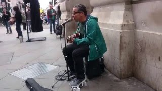 Beatles, Let it Be (Nando Lynch cover) - Busking in the streets of London, UK