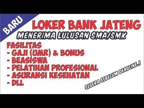 Lowongan Kerja Terbaru BANK JATENG LOKER  Menerima Lulusan SMA /SMK
