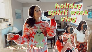 a festive week in my life *holiday spirit week at school*