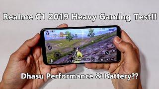 Realme C1 2019 Heavy Gaming Test!! PUBG Gameplay!! Dhasu Performance & Battery??