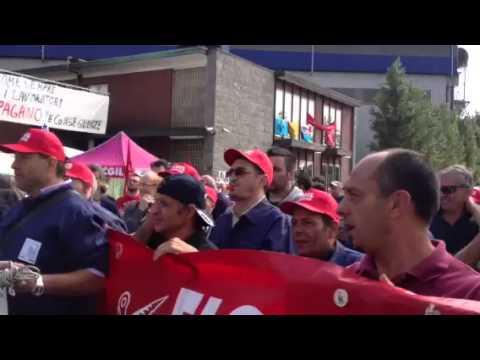 La protesta alla Riva Acciaio