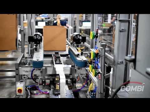 Formadora de cajas Robótica Random con 6 Magazines por gravedad para cajas grandes