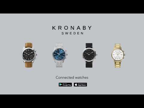 Kronaby Apex bracelet cuir (Montre connectée, 43mm)
