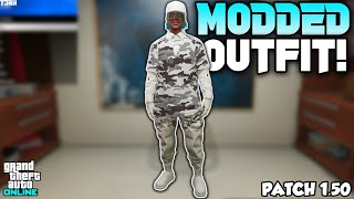 *NEW* HOW TO GET A WHITE JOGGERS CAMO TRYHARD MODDED OUTFIT 1.50! (GTA 5 Online Clothing Glitches)