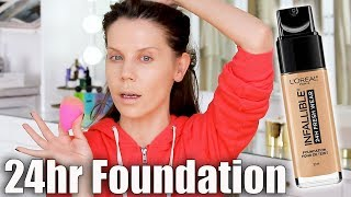 FULL DAY WEAR TEST | L'Oreal 24hr Foundation
