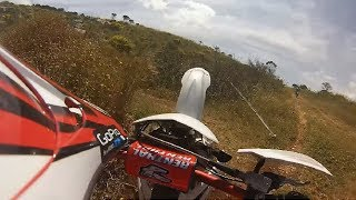preview picture of video 'Go Pro : Enduro a Erice ,HM cre six 70-Husqvarna 125'