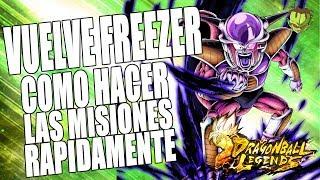 COMO HACER RAPIDO LAS MISIONES DEL EVENTO DE FREEZER /// DRAGON BALL LEGENDS EN ESPAÑOL