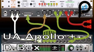 Universal Audio Apollo & D Box Combo (Console, Monitoring, Real Time Processing, Analog Summing)
