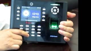 Finger Scan ZKTeco iClock 660 เครื่องบันทึกลงเวลาการทำงานด้วย สแกน